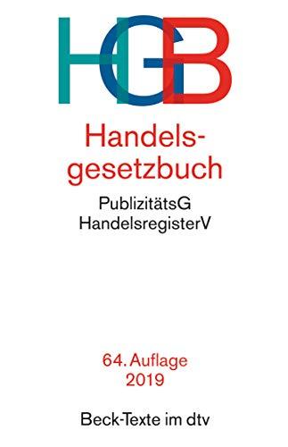 Handelsgesetzbuch HGB: mit Seehandelsrecht, m...