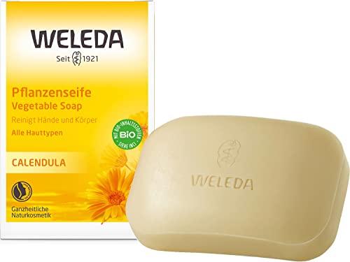 WELEDA Calendula Pflanzenseife, vegane Naturk...