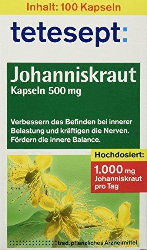 Tetesept Johanniskraut-Kapseln 500 mg, 100 St...
