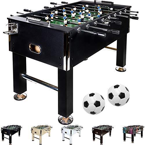 Maxstore Kickertisch Leeds in 5 Farben, Tisch...