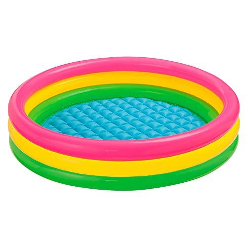 Intex 57412NP - Sunset Glow Baby Pool, 3-Ring...