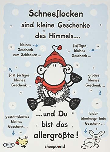 "Sheepworld 61032 Adventskalender \""Schneefloc..."