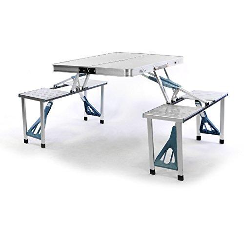Nexos Sitzgruppe Camping Aluminium Tisch 4 Ho...