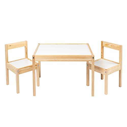 Ikea LATT-Kindertisch mit 2 Stühlen, weiß, ...