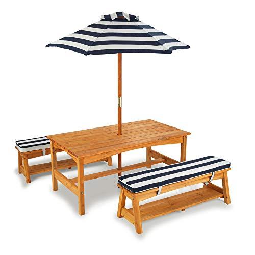 KidKraft 106 Gartentischset mit Bank, Kissen ...