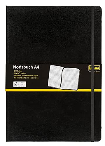 Idena 209280 - Notizbuch DIN A4, FSC-Mix, kar...