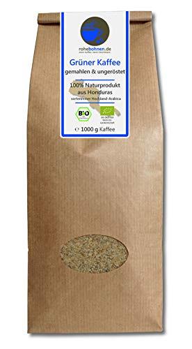 Grüner Kaffee bio gemahlen - Honduras (Rohka...