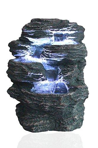 Arnusa Springbrunnen Niagara mit LED Beleucht...