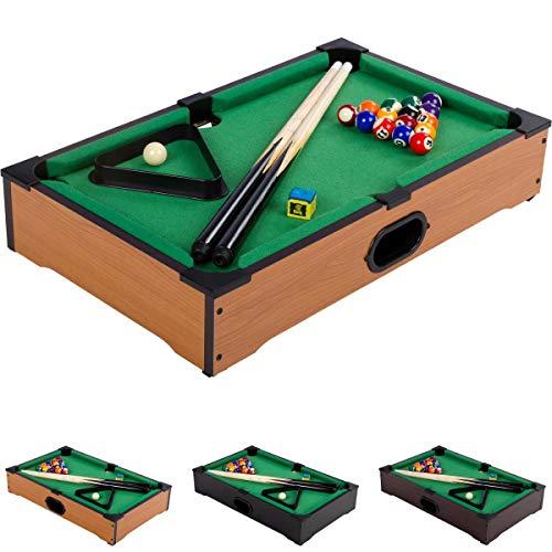 Mini Pool Billardtisch inkl. Zubehör (2 Queu...