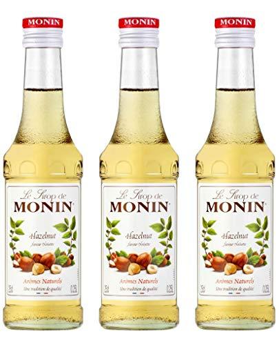 3x Monin Haselnuss / Noisette Sirup, 250 ml F...