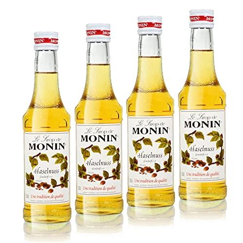 4x Monin Haselnuss / Noisette Sirup, 250 ml F...