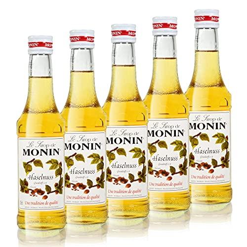 5x Monin Haselnuss / Noisette Sirup, 250 ml F...