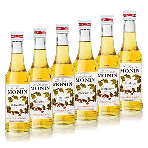 6x Monin Haselnuss / Noisette Sirup, 250 ml F...
