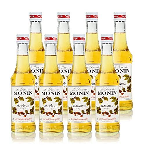 8x Monin Haselnuss / Noisette Sirup, 250 ml F...