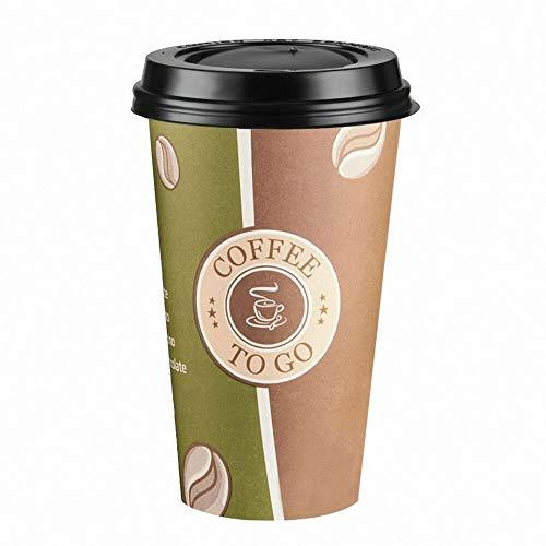 100 Stk. Kaffeebecher Premium Coffee to go mi...