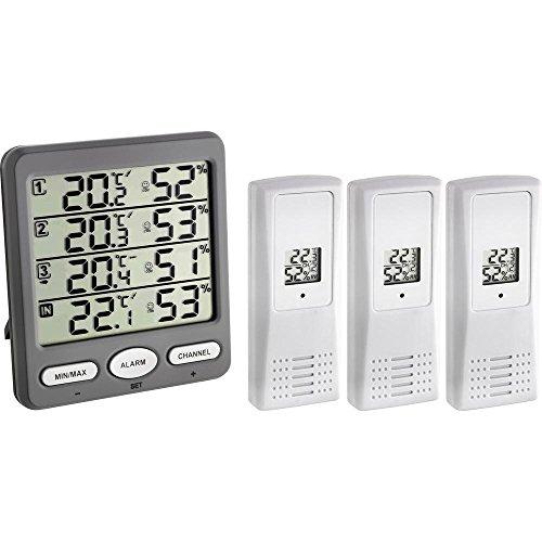 TFA Dostmann Klima-Monitor Funk-Thermo-Hygrom...