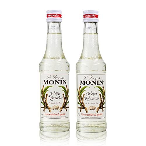 2x Monin Weißer Rohrzucker Sirup, 250 ml Fla...