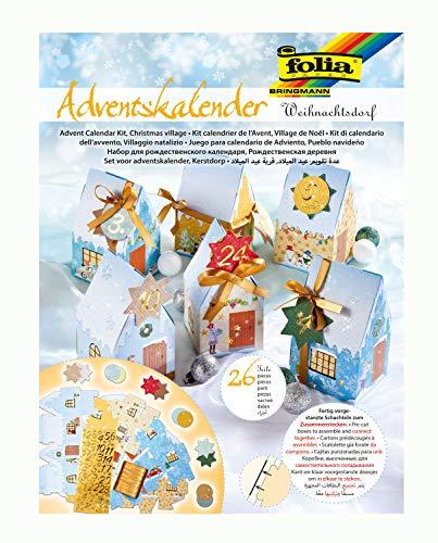 folia 9391 - Adventskalender Weihnachtsdorf, ...