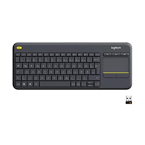 Logitech K400 Plus Kabellose TV-Tastatur mit ...