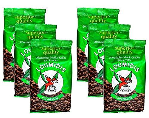 6x 200 g griechischer Mokka Kaffee Loumidis M...