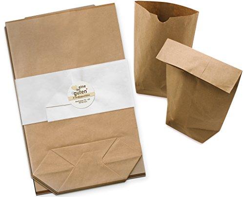 24 braune Papiertüten für Adventskalender, ...