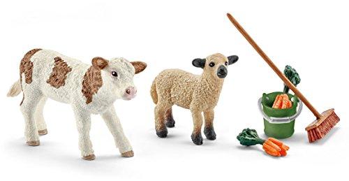 Schleich 41422- Spielzeugfigur, Stallpflege m...