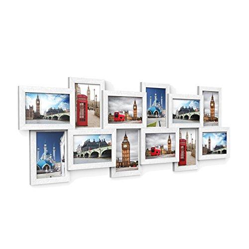 SONGMICS Bilderrahmen Collage für 12 Fotos j...