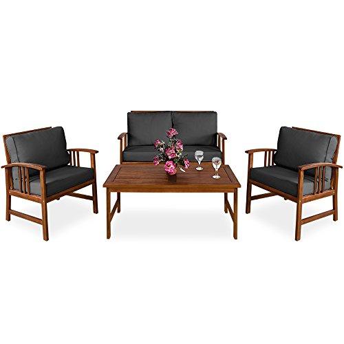 Deuba Lounge Sitzgruppe Atlas Akazien Holz Au...