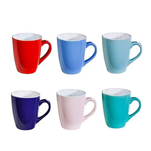 6er Set Bunte Kaffee-Becher AMELIE Mug aus Ke...