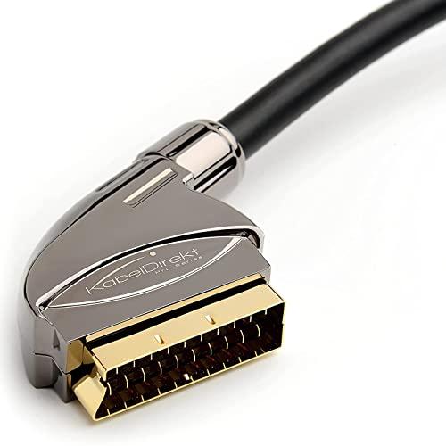 KabelDirekt – SCART Kabel – 1,5m (21 Poli...