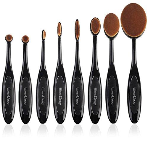 EmaxDesign Oval Make-up Pinsel Set,8 Stück P...
