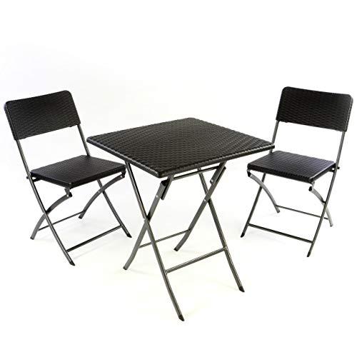Nexos 3er Set Garnitur Tischset mit 2 Stühle...