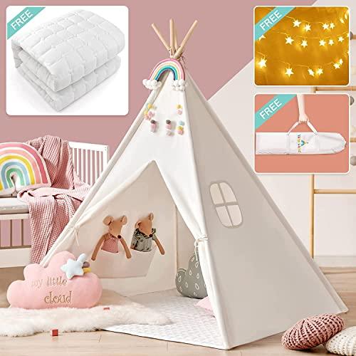 Tiny Land Tipi Spielzelt für Kinder mit gepo...