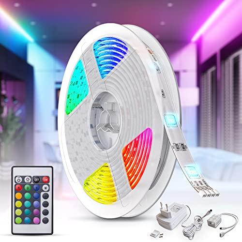 B.K.Licht LED Strip 5m, RGB Streifen, Strips,...