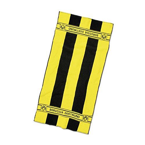 Borussia Dortmund BVB Duschtuch mit Blockstre...