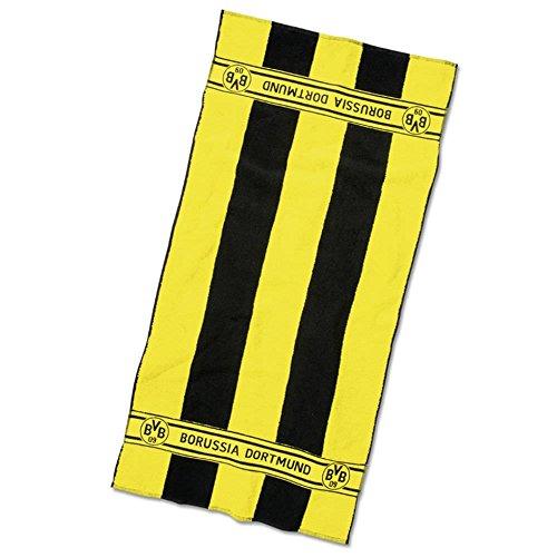 Borussia Dortmund BVB Badetuch mit Blockstrei...