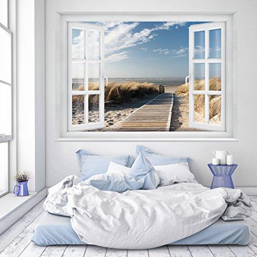 murimage Fototapete Strand Fenster 183 x 127 ...