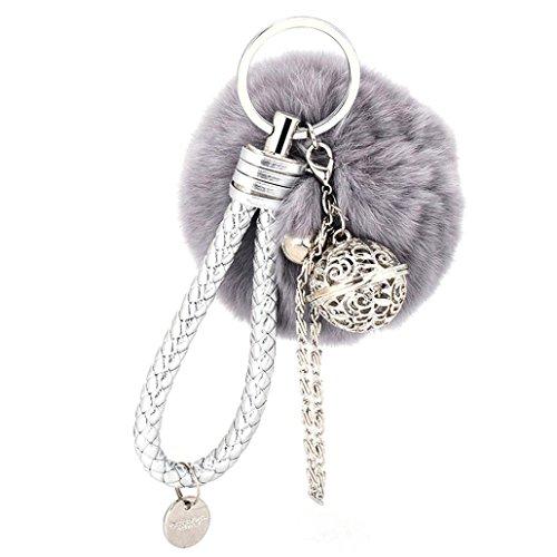 Ularma Elegant Plüsch Ball Schlüsselanhäng...