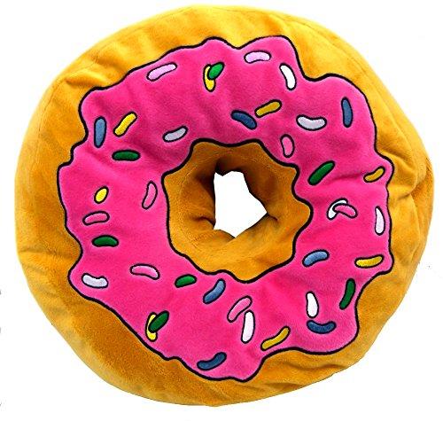 Brigamo 16840 - XXL Plüsch Donut Kissen, Kus...