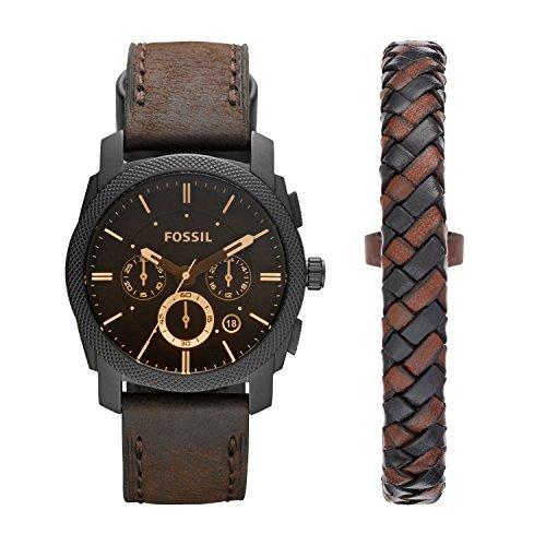 Fossil Herren Chronograph Quarz Uhr mit Leder...