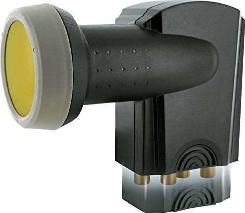 SCHWAIGER -371- Quad LNB mit Sun Protect, 4-F...