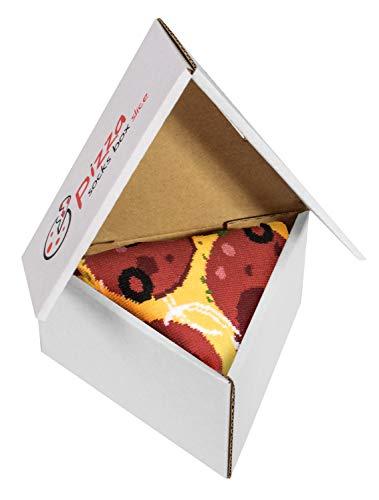 Pizza Socks Box Slice - Pepperoni - Damen Her...