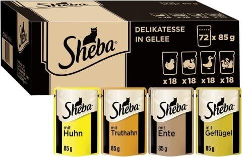 Sheba Delikatesse in Gelee – Hochwertiges K...