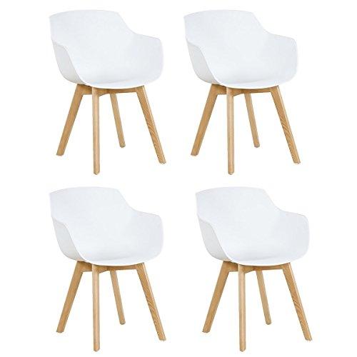 4x Retro Designerstuhl, 4er Esszimmerstühle ...