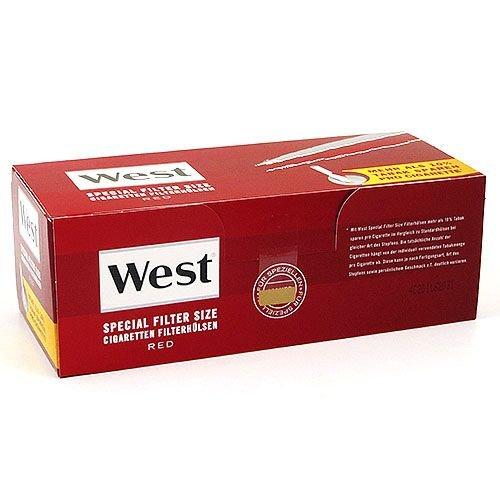 Zigarettenhülsen West Red Special 1.000 Stü...