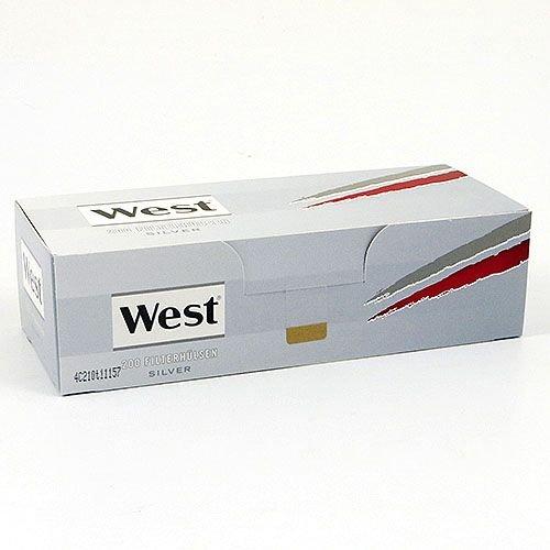 Zigarettenhülsen West Silver King Size 1.000...