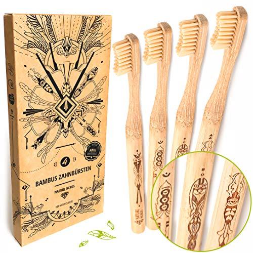 Nature Nerds - Bambus Zahnbürste im Set (4er...
