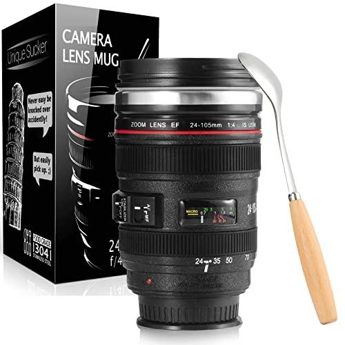 Splend Kaffeetasse mit Löffel, Kamera-Objekt...