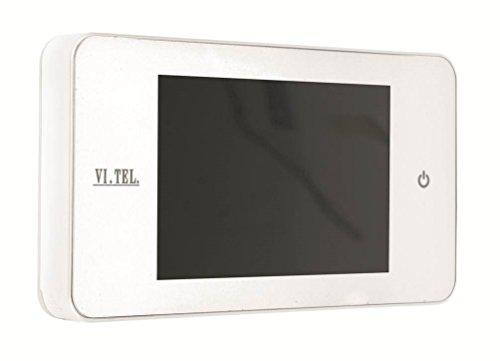 TELESE E0378-60 Digitaler Türspion, Weiß, 4...