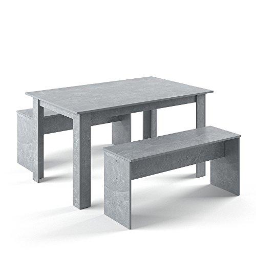 Vicco Tischgruppe 140 x 90 cm - 4 Personen - ...
